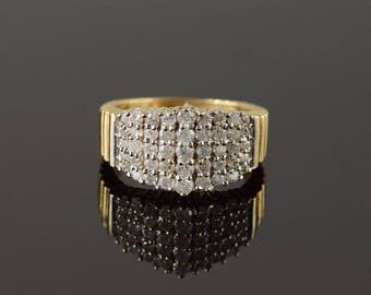 14k 0.67 CTW Diamond Pave Ring Gold
