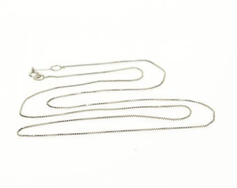 14k 0.6mm Box Link Chain Necklace Gold 18.5""