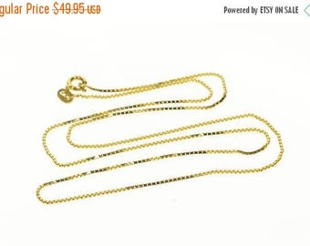 Big SALE 14k 1.0mm Rolling Curb Link Chain Necklace Gold 19.25""
