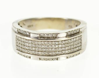 10k 0.56 Ctw Diamond Pave Encrusted Wedding Band Ring Gold