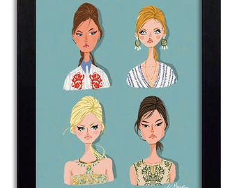 Tory Burch - Fashion Illustration Print Fashion Print Fashion Art Fashion Wall Art Fashion Poster Fashion Sketch Art Print