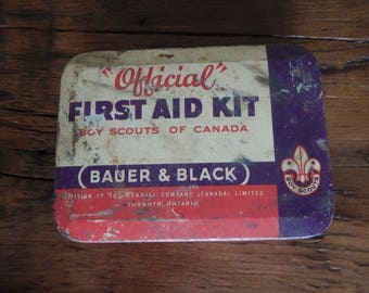 "Be Prepared! ""Official"" Boy Scout First Aid Kit 1950's"