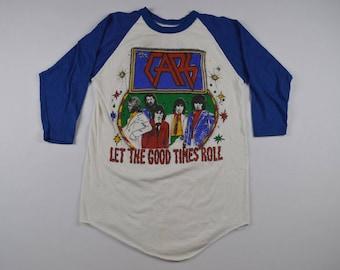 Rare 80s THE CARS Let the Good Times Roll Rock Band Tour Raglan Baseball Shirt, Vintage The Cars Rock Shirt, Rock Tour Shirt, Rock N Roll