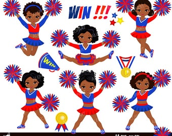 Maroon black and white cheerleader digital clipart set for for Cheerleading arts and crafts