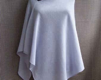 knit glitter sparkly very light blue with a hint of lavender poncho wrap spring autumn wedding musthave