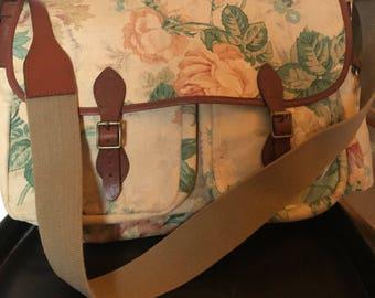 JM Davidson large messenger bag canvas and leather JM Davidson vintage xxl bag canvas and leather shoulder bag