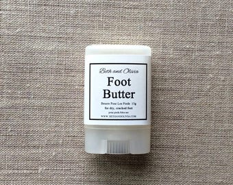 Foot butter 15g, natural foot balm, peppermint foot lotion, lotion for feet, Foot salve, Travel size foot Butter, sample size foot butter