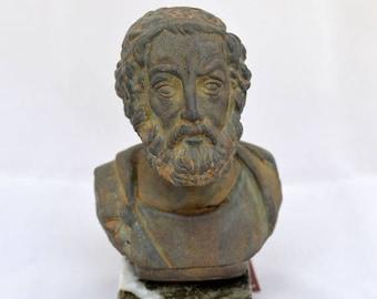 ON SALE Homer Ancient Greek Poet sculpture statue bust 1st c.b.c.