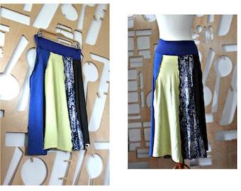 Upcycled skirt Tribal Long skirt A line Boho Festival Hippie Grunge Patchwork skirt Wearable art Fairy clothing Hipster Folk Goa Pixie skirt