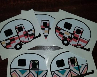 Aztec Pattern Camper Decal-ready to ship