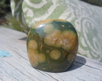 Ocean Jasper Polished Stone, Carving, Statue