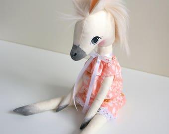 Api's Dolls, Pony, Horse, OOAK doll, 45 cm doll, Animal doll,  Handmade doll, Cloth doll, Art doll, Baby doll, My Little Pony