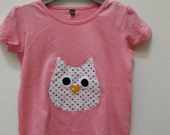 T-shirt girls size 3 owls