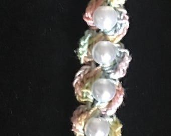 Girls crochet bracelet