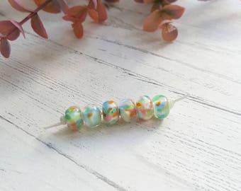 Rainbow Pastel Beads - Bead Set - Glass Beads - Unicorn Bead Set - Blended Beads - Handmade Glass Beads - Glass Beads for Jewellery Making