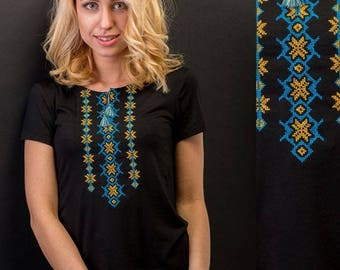 Ukrainian Embroidered T-shirt ( vishyvanka), short sleeve ,bargain  sale!!!
