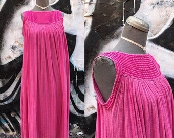 20% OFF WFREE / 1960s Pink INDIA Gauze Maxi Dress