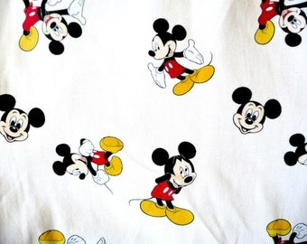 1 yard of cartoon mouse knit fabric
