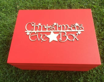 Christmas Eve Box Sign With Stars.