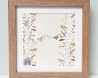 Confetti Tree's Wooden Framed Print