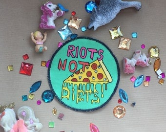 Riots not Diets Green Patch
