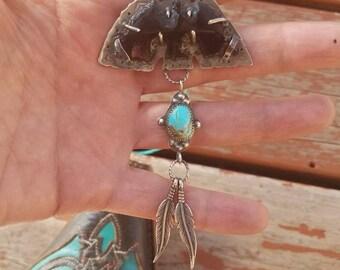 Onxy Thunderbird Turquoise necklace