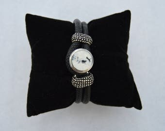 Black chunk bracelet