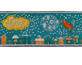 Christmas embroidered bookmark