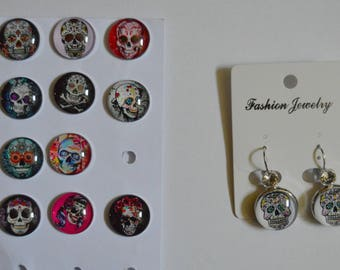 dangle skull earrings to choose