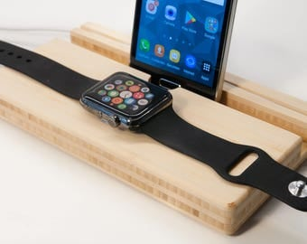 gift for husband, birthday gift, Iwatch dock, gift for men, mens birthday gift, gift for dad, birthday gifts, docking station, iphone dock,