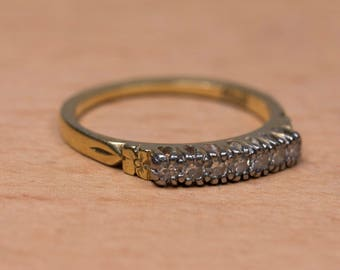 Estate 18ct Gold and diamond Ring