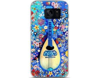 Mandolin Blue Floral Samsung Case