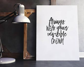 Crown Quote | Invisible Crown, Power Quote, Queen Quote, Pain Quote, Inspiring Quote, Inspiring Wall Quote, Inspiring Saying, Pain and Power