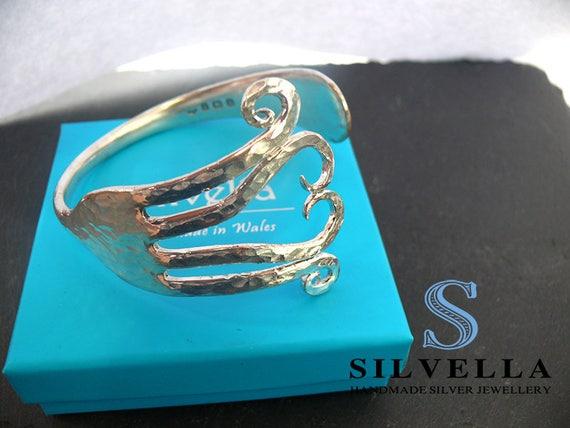 Sterling Silver Fork Cuff - Antique Cuff Dated 1932