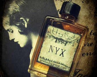 NYX-(Lilac, Amyris, Ivy, Vanilla, Cocoa, Amber, Nag Champa, Patchouli) Anointing Oil, Perfume, Cologne, Ritual Oil