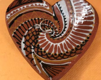 Heart Ring Dish or Spoon Rest