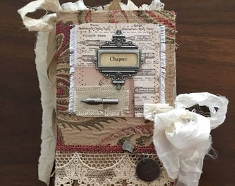 Chapter (Writing Themed) Fabric Cover Journal