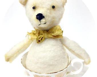TeaCup Teddy Bear Handcrafted Art Doll