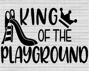 King of the Playground SVG, Back to School SVG, Boys SVG, Playground Svg, Slide Svg, Kids Svg, Little Boy Svg, Toddler Svg, School Svg