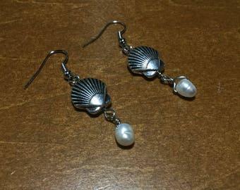 Shells & Pearls Earrings