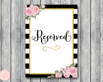 Reserved sign, Wedding Reserved seating sign, Reserved table sign, Wedding sign, Printable sign, Wedding decoration sign WD58 TH08