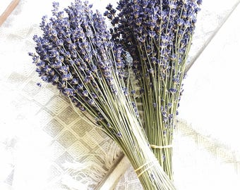 100-150 Stems Lavender, One Bunch, Preserved, Dry French, Dry Lavender, Wedding, Home Decor Bunch Bouquet Dried Lavender Flowers Floral