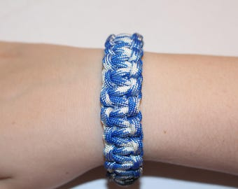 Blue and White Paracord Bracelet