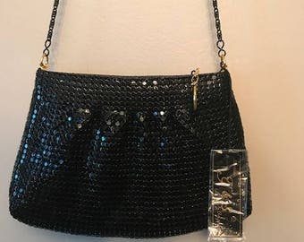 Vintage Bag- Vintage Y & S Black Sequin Crossbody Bag