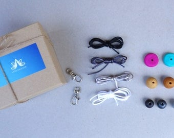 DIY gift kit, do it yourself, DIY gift bag, DIY kit, diy gift, craft kit, craft activity for kids, diy polymer clay kit, key ring, key chain