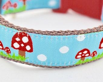Little Mushroom Design Dog Collar