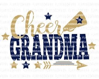 cheer grandma svg, cheer svg, grandma svg, svg cheer dad, cheerleading grandma svg, cheerleader svg, svg files, cheer grandma dxf