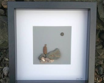Meditation By The Rockpool, an Irish pebbleart gift.