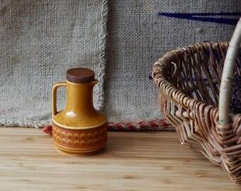 Vintage Hornsea Saffron Oil Pourer Vinegar Pourer  boho retro Farmhouse Kitchen Old Crockery