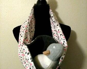 Pebbles Zipper bonding scarf! Zipper Bonding Scarf, rat bonding scarf, hedgehog bonding scarf, sugar glider Bonding Scarf, hamster bonding